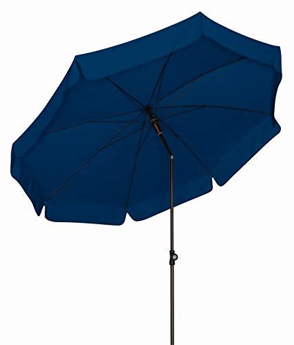 DP Absolut wetterfester Gartenschirm Sunline 250 Blau, von Doppler mit UV-Schutz 50 Plus und Knicker,