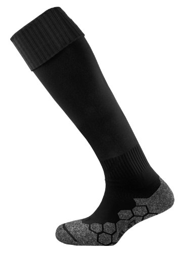 Mitre Division Plain Football Adult Sock, Black Senior/7-12