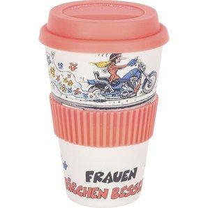 Holger Aue MOTOmania Bambus Coffee to go Becher Frauen riechen Besser