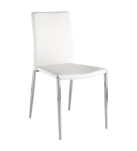 Wink design -Arecibo -pièce de 4 chaises blanches - simili-cuir