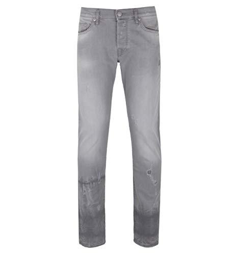 """True Religion New-Rocco Slate Grey Distressed Jeans - 33"""" Waist / 34"""" Leg"""