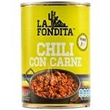 La Fondita - Con Chili con Carne - Leggermente piccante - Ideale per gli amanti del Cile - 418 grammi