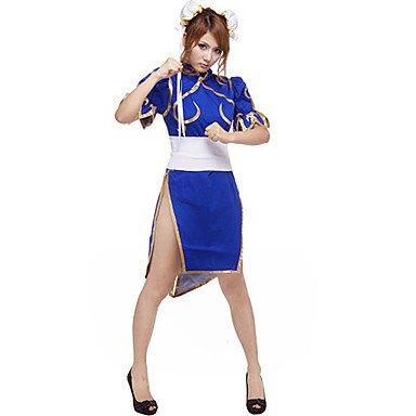 Street Fighter CHUN LI cosplay Kostüm(Mailen Sie uns Ihre Größe), Größe L :(165-170cm) (Street Fighter Chun Li Kostüm)