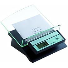 Alba Pèse-lettre électronique Ice 2kg - Plateau incliné - Adaptateur adcoude en option Noir et Transparent