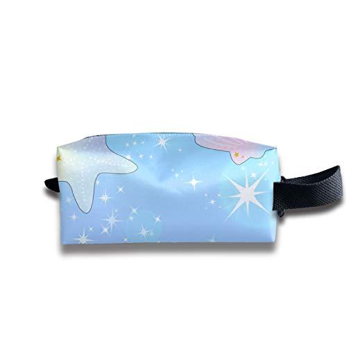 esterne Ozean funkelt Sterne Regenbogen Pastell Blasen tragbare Reise Make-up Kosmetiktaschen Veranstalter Multifunktions-Tasche Taschen für Unisex ()