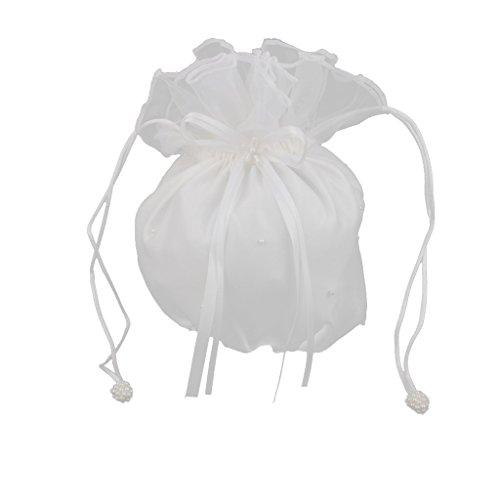Handtasche Satin für Braut Tochter des Blume Tasche von Bonbons für Abend Hochzeit-Elfenbein - Elfenbein-abend-handtasche