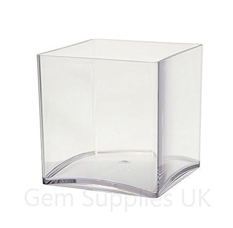 Cube Transparent - 2 x 10 cm Acrylique Transparent Cube