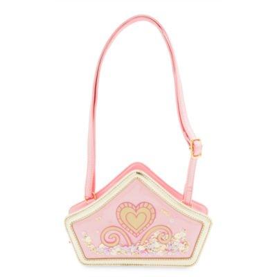Disney Princess Crown Handtasche mit Goldenen Verzierungen, Kühnen Kunstwerken und schimmernden Pailletten