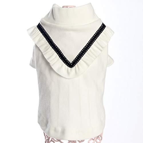 QLMS Pet Kleid neuen Rock Frühling und Sommer Welpen Kleidung Teddybär Xiong Bomeiji Puppe atmungsaktiv Prinzessin Kleid (Farbe : Weiß) (Eine Halloween Puppe Dress Für Up Wie)