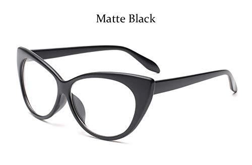 MOJINGYAN Sonnenbrillen Mode Brillen Cat Eye Optische Gläser Frauen Transparente Brillenmarke Designer Vintage Clear Lens Frame, D