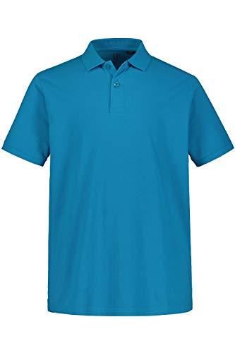 JP 1880 Herren große Größen bis 8XL, Poloshirt, Oberteil, Knopfleiste, Hemdkragen, Pique, Azur 5XL 702560 75-5XL