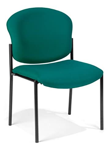 Fabric Upholstered Stacking Armless Chair
