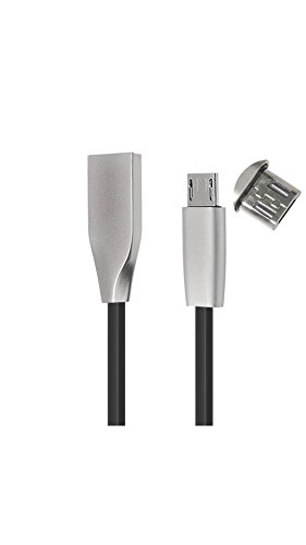 ELECTROPRIME Zinc Alloy 2A Micro USB 1M/3.3FT Diamond Cable for Sumsung Huawei Meizu Black