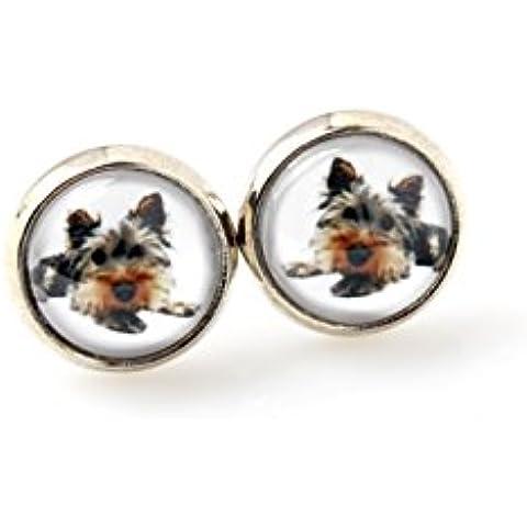 Yorkshire Terrier, Mascota en el oído, pendientes, joyería de la foto, hechos a mano