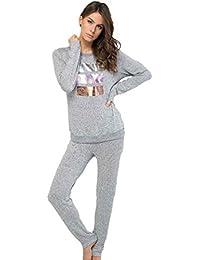 MASSANA Pijama de Mujer en Viscosa P681252 - Gris Vigore, L