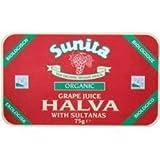 Sunita Organic Grape Juice Halva & Sultanas 75g by Sunita