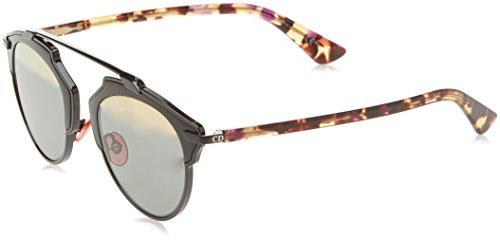 Dior Damen DIORSOREAL ZJ NT1 Sonnenbrille, Schwarz (Shiny Black Havana/Grey Rose Gold), 48