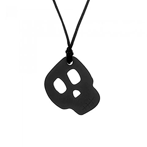 Chewigem Sensory Chew Skull Necklace - Chewy Toy For Autism & ADHD - Black