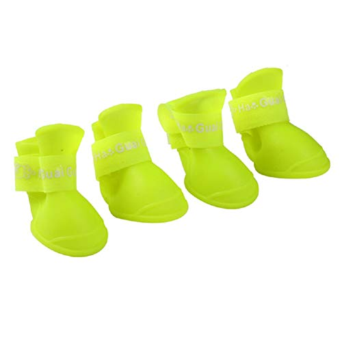 Ducomi Adhesives - Waterproof and Anti-Slip Protective Booties for Dogs - Soft Rubber Dog Boots - Ideal for Rain, Snow, Steep Terrain or Protection for Wound Feet
