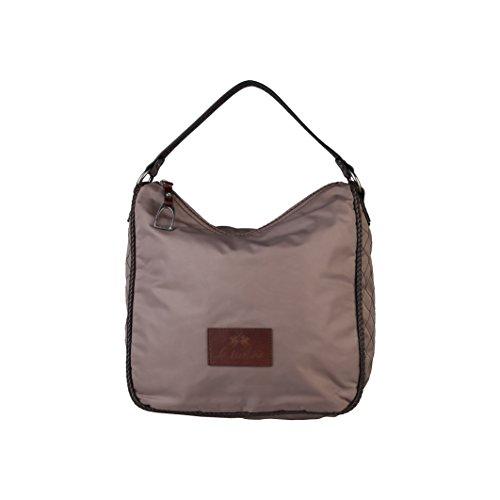 La Martina Damen Handtasche mit abnehmbarem Schulterriemen Braun