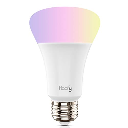 ,Haofy RGB LED Leuchtmittel E27 Glühbirne Smart WiFi Bulbs 5 W Drahtlose Tageslicht & Nacht Licht Haus Beleuchtung Smartphone Kontrollierte für iOS/Android mit Amazon Echo ()