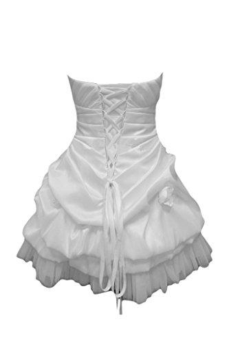 Gorgeous Bride Fashion Traegerlos A-Linie Mini Taft Tuell Brautkleid Abendkleid Festkleid Ballkleid Bildfarbe