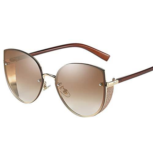 Sonnenbrille Unisex Vintage Style Metall unregelmäßige Form Brille Sonnenbrille Brille