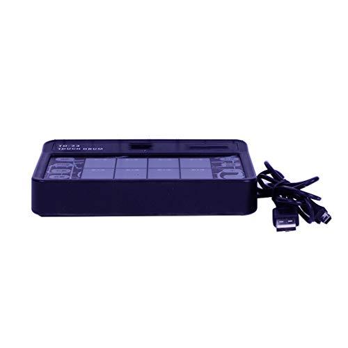 LINGLING-Trommel Trommel-Kinder-elektronische Trommel-Erwachsene Note tragbare Percussion-Tablet-Praxis (Farbe : SCHWARZ, größe : S)