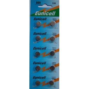 X10 Eunicell AG9 Alcaline piles plates batterie cellule - G9 LR45 LR936 LR936SW SR936 SR936W SR936SW 394 type