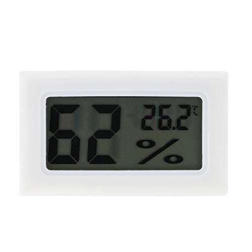Vosarea Mini Luftfeuchtigkeit Hygrometer Feuchte Temperatur Messgerät Tragbar für Innenraum und Außen (Weiß)