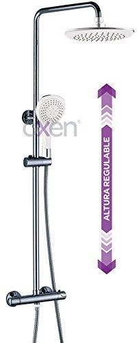 OXEN Martín - Columna de ducha termostática (largo normal) color blanco