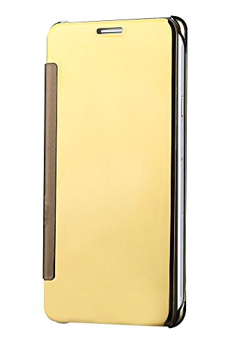 Sun Mobisys™; Samsung Galaxy S5 G900 Flip Cover; Clear View Flip Cover for Samsung Galaxy S5 G900 Gold Mirror  available at amazon for Rs.624
