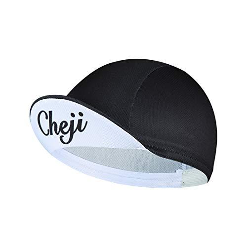 GWELL Frisch Bandana Cap mit Rand Brim Atmungsaktiv Kopftuch Bikertuch UV Schutz Fahrrad Erwachsene Radsport Schwarz