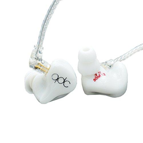 QDC 3S HiFi In Ear Earphone Triple Driver Balanced Armature Bass Noise Earphone White (Triple-balanced-armature -)