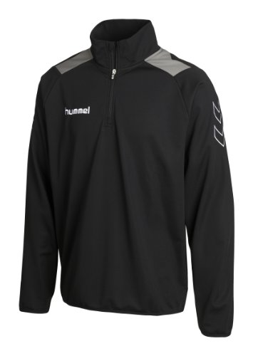 Hummel Felpa Roots con mezza cerniera, Nero (Black), XL