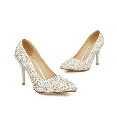 Talloni delle donne Primavera Estate Autunno Inverno Club Scarpe glitter personalizzato Materiali da festa di nozze e abito da sera Stiletto HeelSparkling Gold
