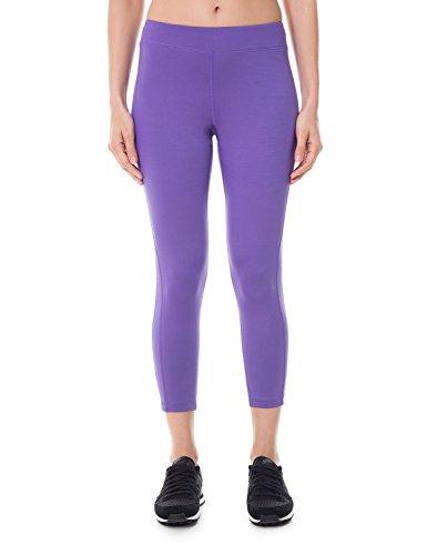 SYROKAN Femme Legging Sport Collant Capri de Running Pure Lime Fitness Pantalon Bleu Violet