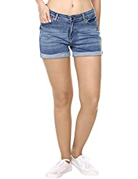 2108d64cca Shorts For Women: Buy Denim Shorts For Women online at best prices ...