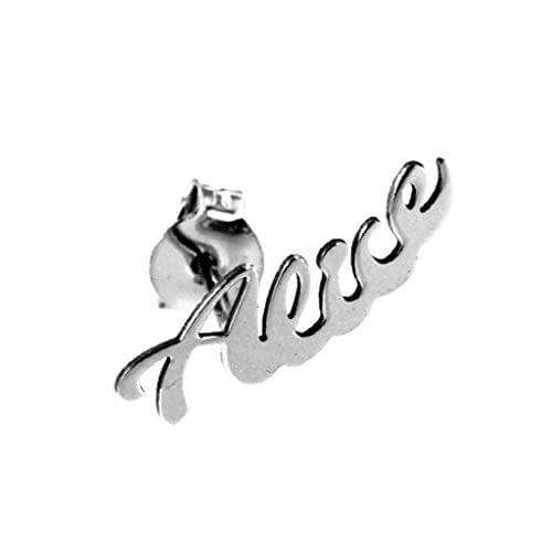 Orecchino personalizzabile con nome o inziale e 1 orecchino in regalo. Massimo 7 lettere. Argento 925.