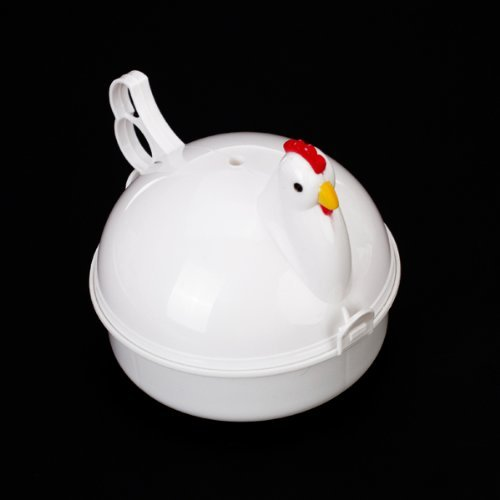311QNWod2hL. SS500  - Sonline Chicken Shaped Plastic Microwave Egg Boiler For 4 Eggs
