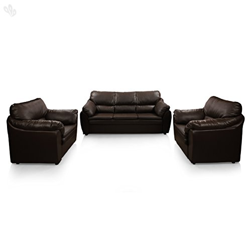 Comfort Couch Lily TCCB12MAGIC2045 Five Seater Sectional Sofa Set 3-1-1 (Dark Brown)