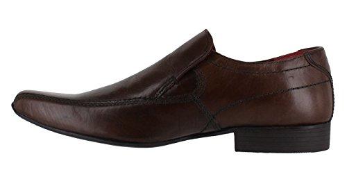 Ruban Rouge pour homme de Poireau Smart Casual sur Chaussures en cuir antidérapant Marron