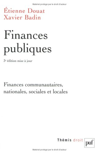 Finances publiques : Finances communautaires, nationales, sociales et locales