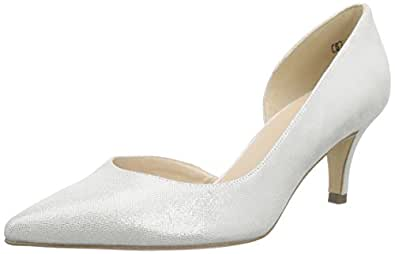 Peter Kaiser Women's Sylvia Closed-Toe Pumps, White (Weiss Sevi 068), 4.5 UK