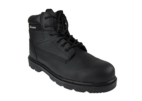 Xplorer Mens Safety Boots Waterproof Leather w/Composite Toe Cap, Waterproof, Puncture Resistant Midsole, For Security, Military, Construction, Road Workers, Bikerss - Size 10 UK / 44.5 EU Composite Toe Cap