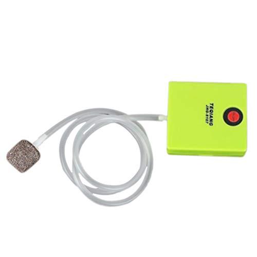 LIOOBO Mini sauerstoffpumpe Angeln luftpumpe tragbare Aquarium sauerstoffpumpe für Outdoor Aquarium Aquarium hellgrün (luftschlauch + Luft Stein)