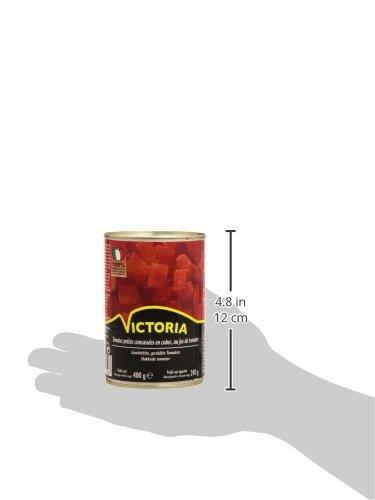 Victoria Tomates Pelées Concassées en Cubes La Boîte 240 g