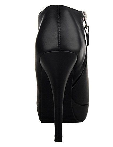 WSS 2016 Chaussures Femme-Extérieure / Soirée & Evénement-Noir-Talon Aiguille-Talons / Bout Ouvert-Talons-Polyuréthane black-us6.5-7 / eu37 / uk4.5-5 / cn37
