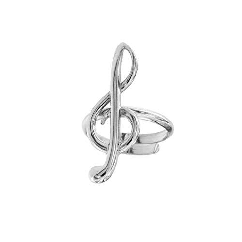 padre Nostro Ring Notenschlüssel aus Silber 925rhodiniert verstellbar von 15,5ITA