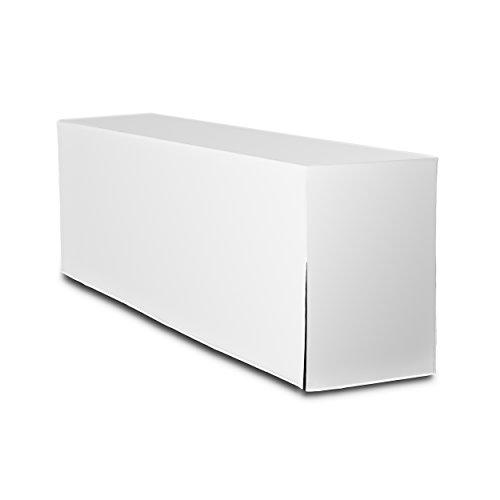 Biertischhusse Premium (nur Tisch 220cm) (70cm, Weiss)